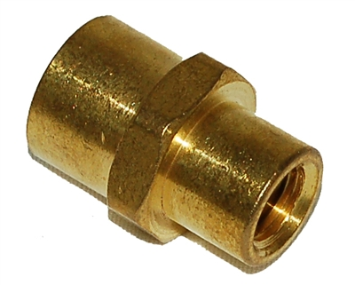 Trinity 1/8ftp X 1/4 ftp brass female coupling reducer FPC240